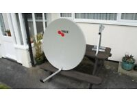 For Sale, One 110cm Triax satellite dish and heavy duty wall braket almost brand new.