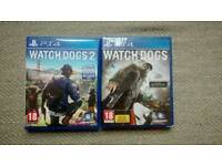 PS4 | Watchdogs & Watchdogs 2 | Boxed | Grade A Condition