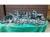 Hand made stone garden ornaments