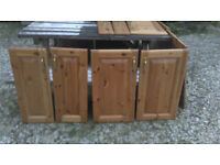 6 x Wooden kitchen unit doors plus 3 x matching drawer fronts.