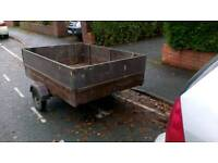 TRAILER 6x4 sturdy wooden unbraked