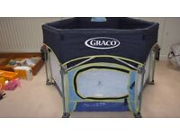 Graco Pack 'n' Play Sport play pen with sun hood - excellent condition