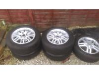 "Ford Focus 15"" alloy wheels - good tyres / x5 /"