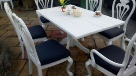 quality dining table and six chairs
