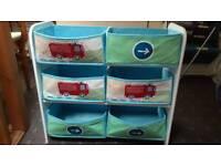 Boys fabric storage unit