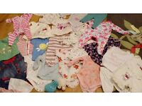 Bundle of girls clothes tiny baby and 0-3months