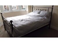 Beautiful double bed and mattress