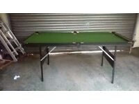 Snooker/Pool Table Pre-Loved, Balls, triangle, brush, score counter, 1x cue £50