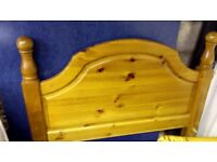 Pine single bed frame and headboard