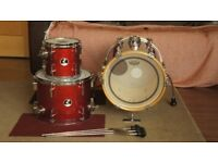 Sonor Martini Red Sparkle Galaxy 3-Piece Drum Kit