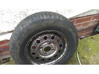 Ford Escort wheel / tyre.