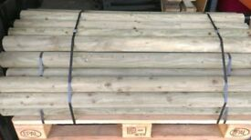 Landscaping logs treated 75-80mm diameter, 1.25m long 37 available.