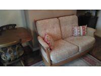 Ercol Saville golden oak sofa
