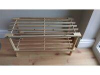 Wooden shoe rack - Brand new!