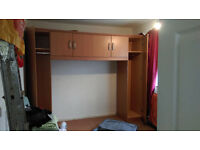Over bed and corner wardrobes, disassembled FREE for collection