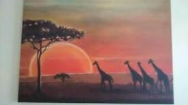 Safari print on canvas