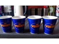4 Yorkie cups