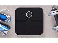 FitBit Aria Wi Fi Connected Weighing Scales (Black), Used Once.