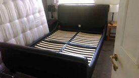 Kingsize brown bed frame