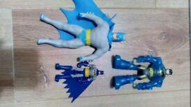 Batman figures including stretch batman