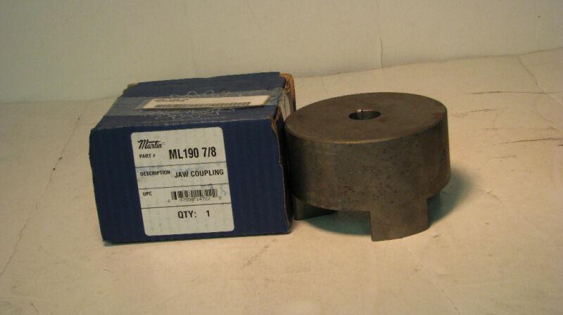 "ML190 7/8 Martin Universal Series Jaw Coupling, Sintered Steel, 0.875"" Bore"