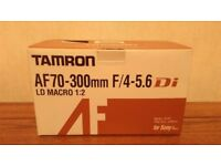 TAMRON LENS AF70-300mm F/4-5.6 Di LD Macro 1:2 for Sony D-compatible