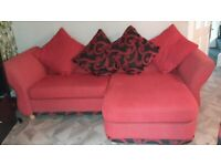 3-seater Sofa with Chaise (duel orientation), Swivel Chair & Footstool