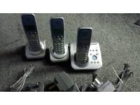 Panasonic cordless digital home phone trio
