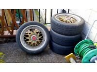 Bmw E36 BBS alloys 17 inch needing cleaned up and require new tyres