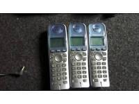 Phone cordless trio digital with answering machine