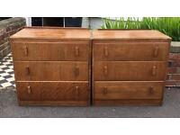 Pair of Oak Chest Of Drawers