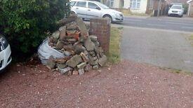 Free hardcore rubble brick ect