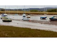 Mooring to rent near recreation ground at Topsham, £150 for the season
