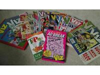 Viz collection of magazines and books