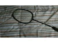 Yonex racket bag and Talbot badminton racket