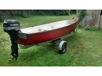 14ft grp open boat with 8hp outboard