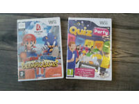Mario & Sonic at the Olympic Games AND Quiz Party - Nintendo Wii - New & Sealed + FREE game