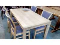 Modern dining table and X 4 chairs
