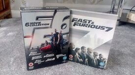 DVD Boxset - Fast & Furious 1-6 Plus DVD for movie 7