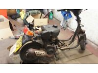 Peugeot Zenith moped scooter 50cc spares or repairs project black
