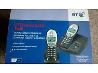 BT twin cordless phones answering machine