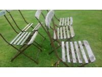 Bandstand folding chairs, vintage