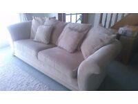 3 piece sofa in cream like new