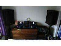complete DJ/MC set up