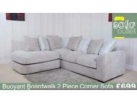 Buoyant Boardwalk Fabric 2 Piece corner Sofa £699
