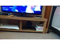 Oak effect tv bench
