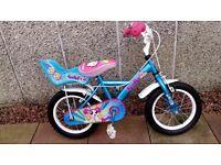 Apollo pom pom, girls bike 14 inch