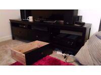 IKEA large 3 drawer TV bench