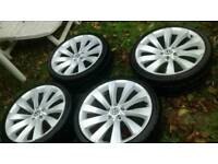 "VOLKSWAGEN LUGANO SPORT 19"" ALLOY WHEELS AND TYRES 235/35 ZR19"