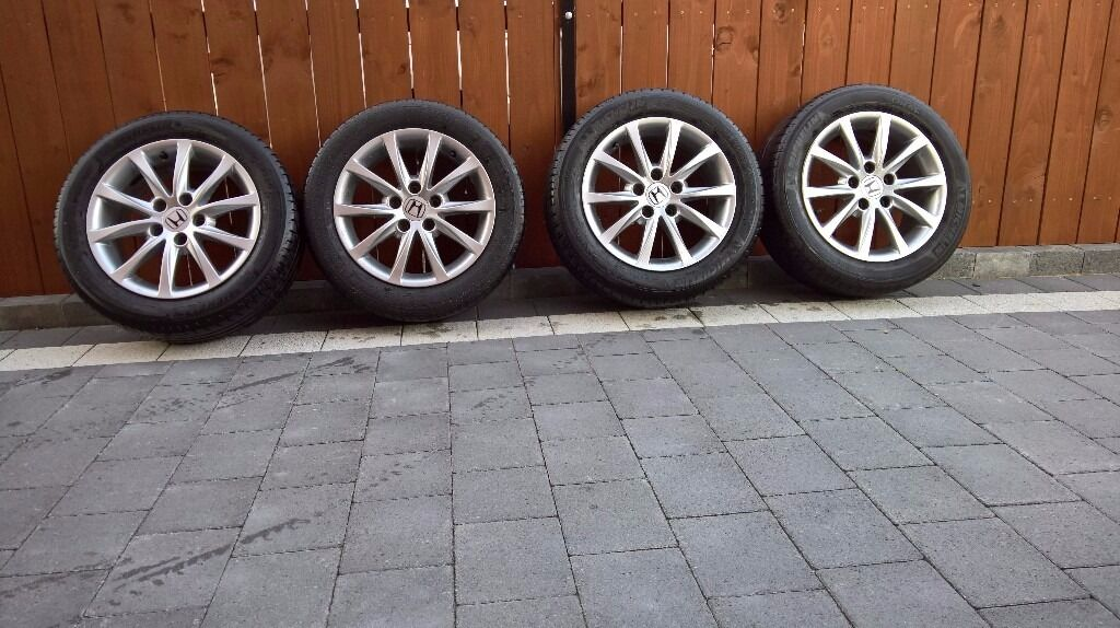 """Honda Civic Alloy Wheels and tyres 16"""" - Great Condition"""